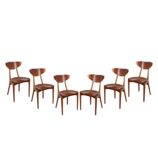 Mahogany Dining Chairs by Christensen & Larsen, Set of Six