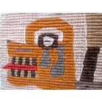 Image of Vintage Woven Wall Hanging Textile