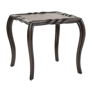 Furniture Vault Ebony Twist Side Table