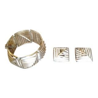 "Georg Jensen by Nanna Ditzel Sterling Silver ""Grates"" Link Bracelet No. 389"