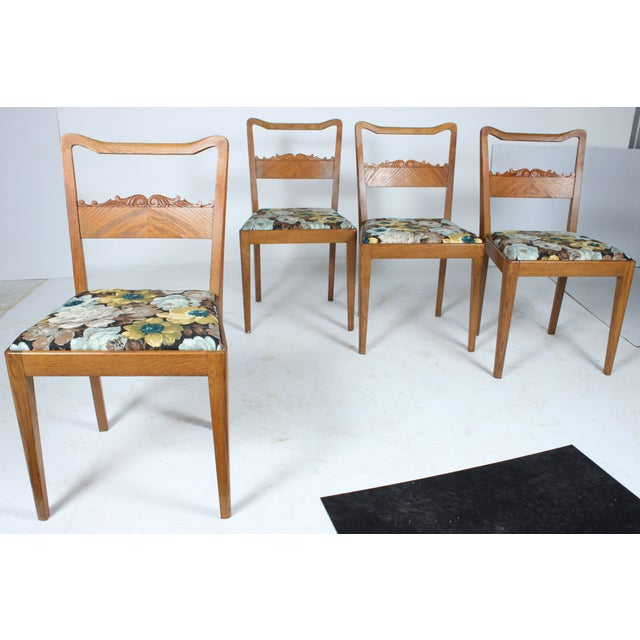 Swedish Floral Dining Chairs - Set of 4 - Image 2 of 3
