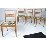Image of Swedish Floral Dining Chairs - Set of 4