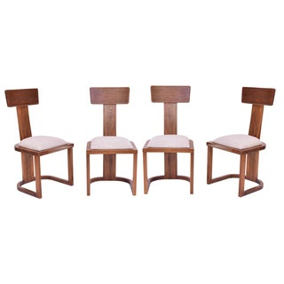 High Back Wood Chairs - Set of 4