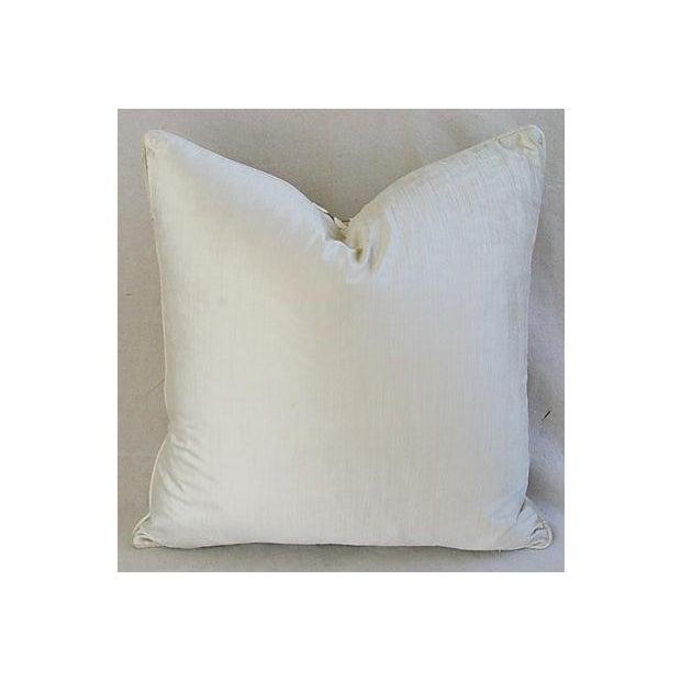 Designer Platinum/White Velvet Dot Pillows - Pair - Image 6 of 8
