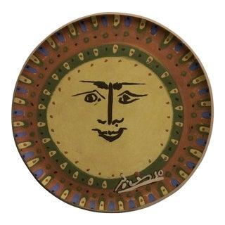 Picasso Sun Face Ceramic Plate