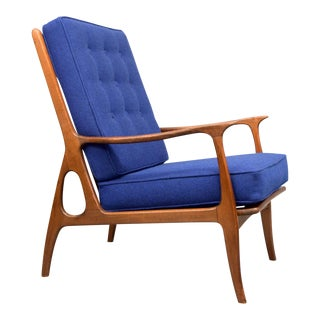 Mid-Century Italian Hallingdal Wool Lounge Chair