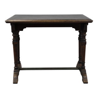French Renaissance Revival Trestle Based Bistro Table