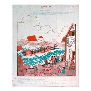 """M. Jeanjean 1926 """"Les Paysans Galère Fiscale"""" Le Sourire Print"""