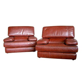 Leather Club Chairs De Sede Style - Pair