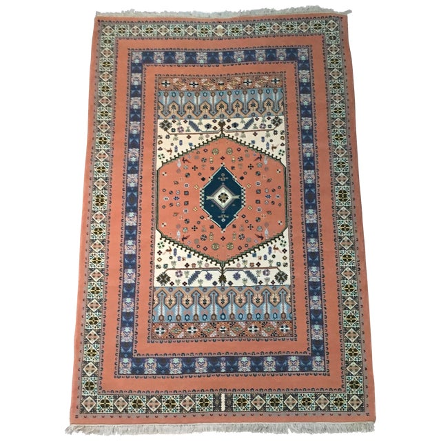 "Hand-Woven Moroccan Rug - 6'7"" X 11' - Image 1 of 5"