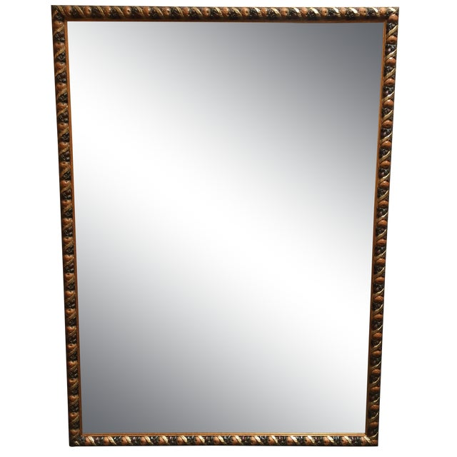 Image of Mirror With Carved Wooden Frame