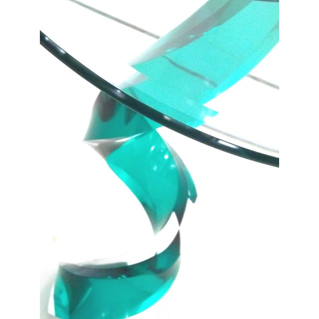 Haziza Lucite Oval Side Table - Image 4 of 5