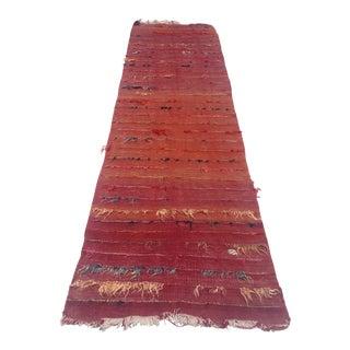Antique Turkish Angora Wool Rug - 2′8″ × 9′11″