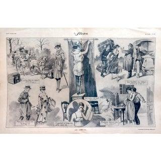 """Georges Grellet 1920 Le Sourire """"On Rentre"""" Print"""