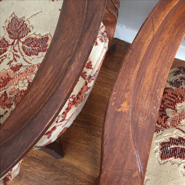 Floral French Provincial Chairs- A Pair - Image 6 of 7