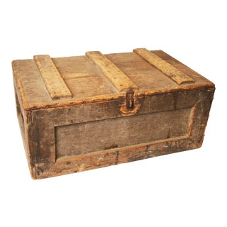 Primitive Handmade Wood Tool Chest