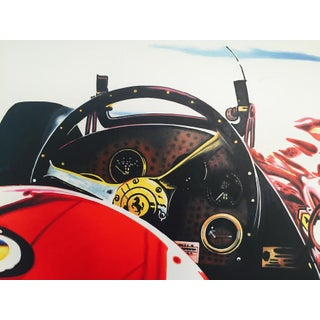 Abstract Painting of a Ferrari