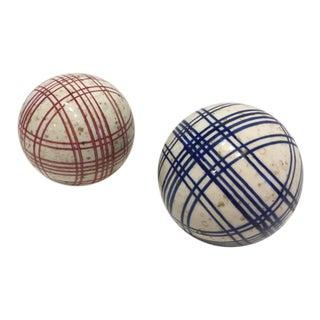 Decorative Plaid Spheres