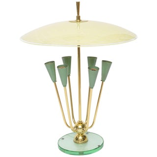 Exceptional Italian Table Lamp in Manner of Fontana Arte