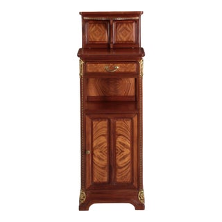 Rare French Art Nouveau Antique Nightstand Cabinet by Louis Majorelle
