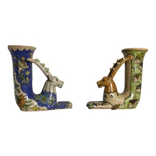 Vintage Persian Bookend Vases - A Pair
