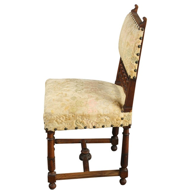 Antique 1900 French Dining Chairs - Set of 8 - Image 6 of 8
