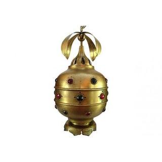 Midcentury Moroccan Brass Pendant Light