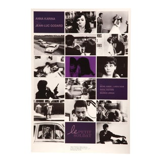 "Japanese poster for Jean-Luc Godard's ""Le Petit Soldat"" starring Anna Karina"