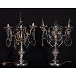 Image of Antique Tiffany Studios Silver Candelabras - Pair