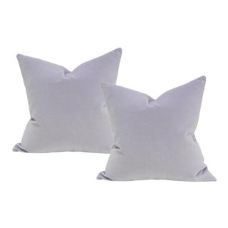 "Light Purple Velvet Pillow Covers - a Pair 18"" Sq"