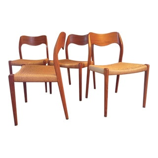 Niels Moller Model #71 Danish Modern Dining Chairs - Set of 4