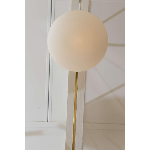 Mid-Century Modern Ten-Opaline Shade Chandelier in the style of Arredoluce - Image 10 of 10