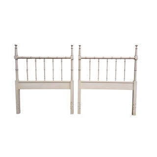 Faux Bamboo Twin Headboards - A Pair