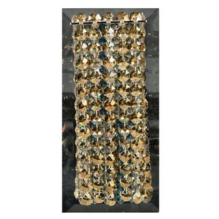 Swarvosk Crystal Wall Sconce on Mirrored Back