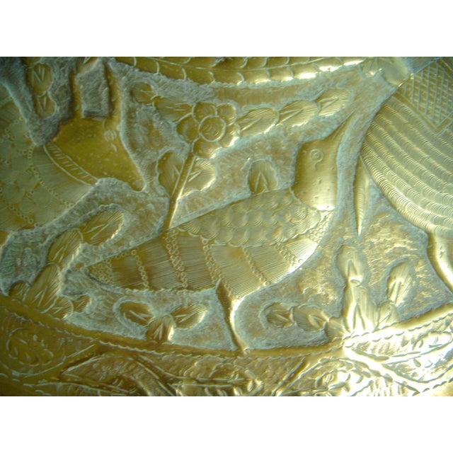 Mythological Persian Brass Tray Chairish