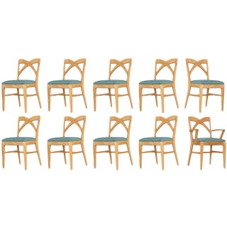 Paul Frankl Dining Chairs for Brown Saltman - Set of 10