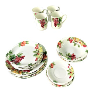 Royal Doulton Vintage Grape Pattern China Service- 25 Pieces