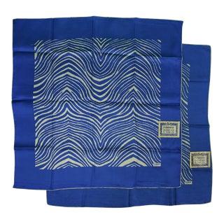 El Morocco Silk Pocket Squares & Towelettes - A Pair