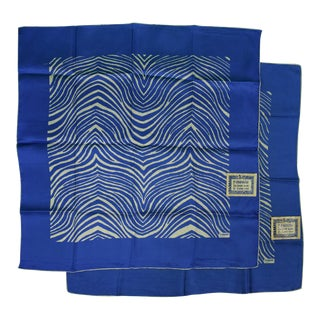 El Morocco Silk Pocket Squares & Towelettes - A Pair