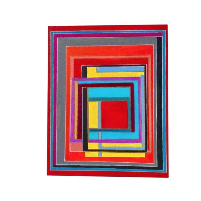 Bryan Boomershine Modern Block Graphic Painting - Image 1 of 5