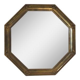 Octagonal Gilt Wood Wall Mirror