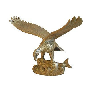 Mid-Century Solid Brass Eagle