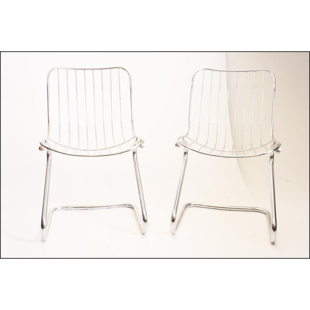 Vintage Italian Chrome Metal Dining Chairs - Set of 4 - Image 3 of 11