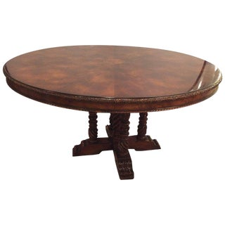 A Ralph Lauren Centre` or Dining Room Table Flame Mahogany in Georgian Style