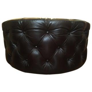 vintage used black ottomans and footstools. Black Bedroom Furniture Sets. Home Design Ideas