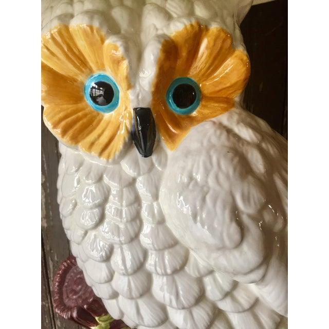 White Ceramic Owl Lamp - Image 4 of 4