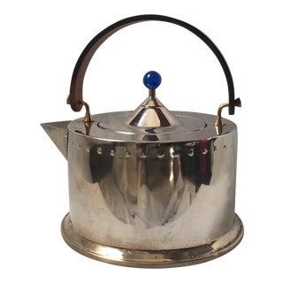 Mid-Century Modern Stainless Steel Tea Kettle
