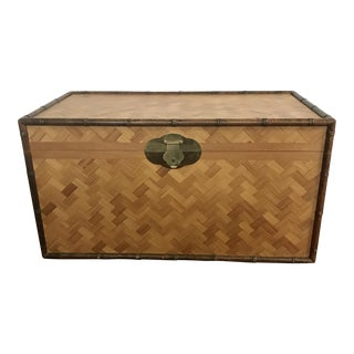 Vintage Rattan & Faux Bamboo Trunk
