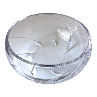 "Tiffany & Co.11"" Crystal Bowl-Signed"