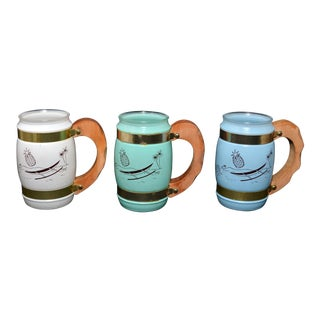 Siesta Ware Tiki Mugs - Set of 3